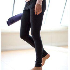 Lululemon My Mantra Skirted Leggings Charcoal 4